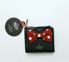 kate spade new york x minnie mouse adalyn Small Leather Wallet - Black & Red - $105.46