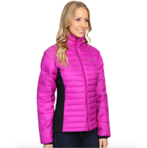 COLUMBIA Womens size XL Powder Pillow Hybrid Jacket Warm Quilted Bright ... - $70.17