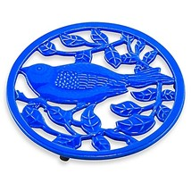 Old Dutch International 2-Tone Little Birdie Trivet in Dazzling Blue - $11.99