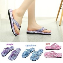 Summer Platform Sandals Beach Flat Wedge Patch Flip Flops Lady Slippers