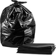 55-60 Gallon Contractor Trash Bags, 3.0 Mil, Large Black Heavy Duty Garbage Bags