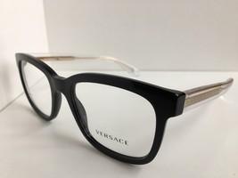 New Versace 3932 GB1 Black 52mm Eyeglasses Frame Italy #2 - $199.99
