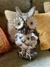 Vtg pottery mid century modern retro CERAMIC HAND PAINTED HOOT OWL - $98.99