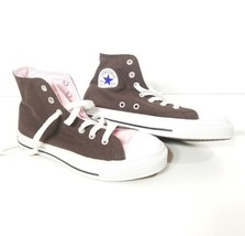 WOMENS Converse All Star Sneakers Pink Sz 3 Shoes Laces Brown Casual Sports - $18.50