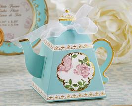 Blue English Rose Tea Time Teapot Bridal Party Spring Wedding Favor Gift... - $44.41+