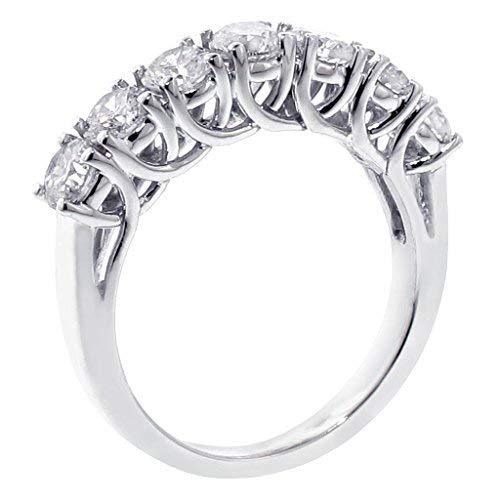 VIP Jewelry Art 1.28 CT TW Brilliant Cut Braided 7-Diamond Wedding Band in 18k W