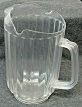 Lot of 4 Bakers Chefs Restaurant Commercial 60oz Clear Plastic Pitchers ... - $19.80