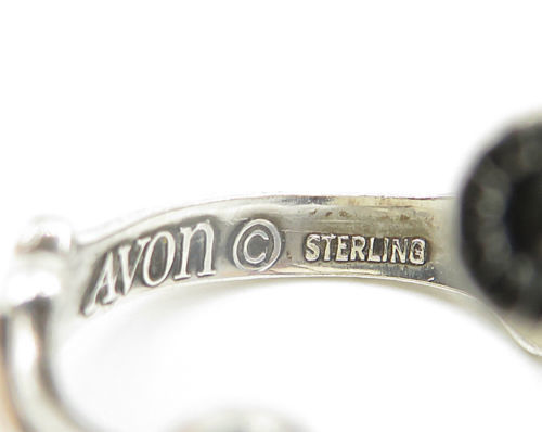 AVON 925 Silver- Vintage Love Heart & Floral Decor Bypass Band Ring Sz 8 - R5094 image 6