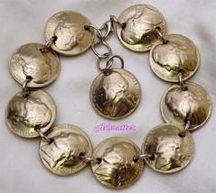 2001 Nickel Charm Bracelet! Birthday Anniversary Gift Handmade Coin Jewelry - $34.70
