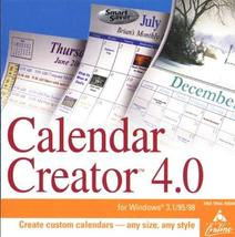 Calendar Creator 4.0 (Jewel Case) [CD-ROM] Windows NT / Mac / Linux / Un... - $22.76