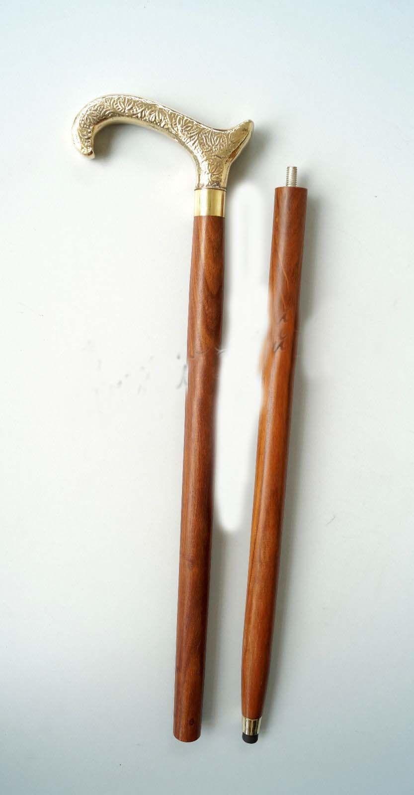 Solid Brass Elephant Designer Handle Victorian Vintage For Wooden Walking Cane