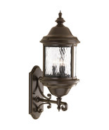 Outdoor Antique Bronze Old World Wall Lantern Seeded Glass Light P5653-20 - $240.91