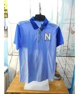 NAUTICA Boys Polo Shirt Sz XL XLarge 18/20 Light Blue/Dark Blue Spellout... - $12.86