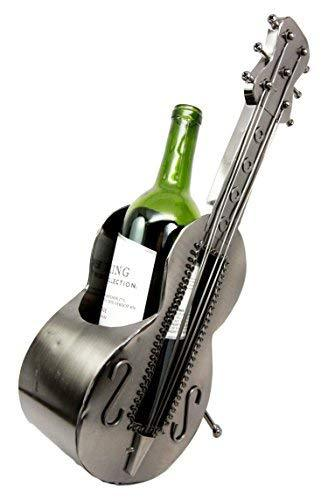 Primary image for Atlantic Collectibles Acoustic Guitar On Stand Hand Made Metal Wine Bottle Holde