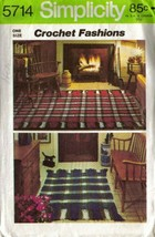Vintage 1973 Simplicity Pattern 5714 - Crochet Instructions for Reversible Rug - $7.00