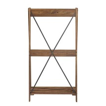 Brown Solid Wood Hall Tree With Shelf and 8-Hooks - $179.03