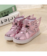 Light up Winged girls Pink sneakers Anti-Slip unisex  casual sports shoe - $39.99