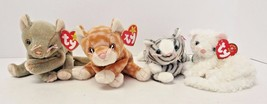 TY Original Beanie Babies Amber Starlet Scat Prance Cats Set of 4 - $29.69