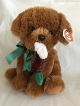 Ty Classics Stockin' Large Plush Brown Puppy Dog Stocking in Mouth MWMT ... - $29.69