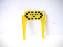 Vintage Ideal Motorific Torture Track Slot Car Power Test Sign by Ideal Toy - $8.90