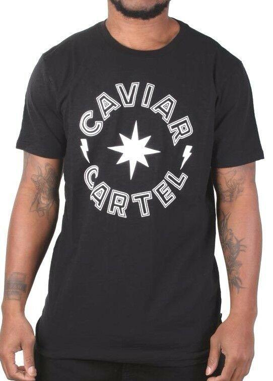 Caviar Cartel Ssur Homme Noir Blanc Étoile Logo T-Shirt C14607668 Nwt