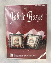 Designs For The Needle 6509 Bunny Bear Fabric Box Vintage Cross Stitch Kit - $11.30