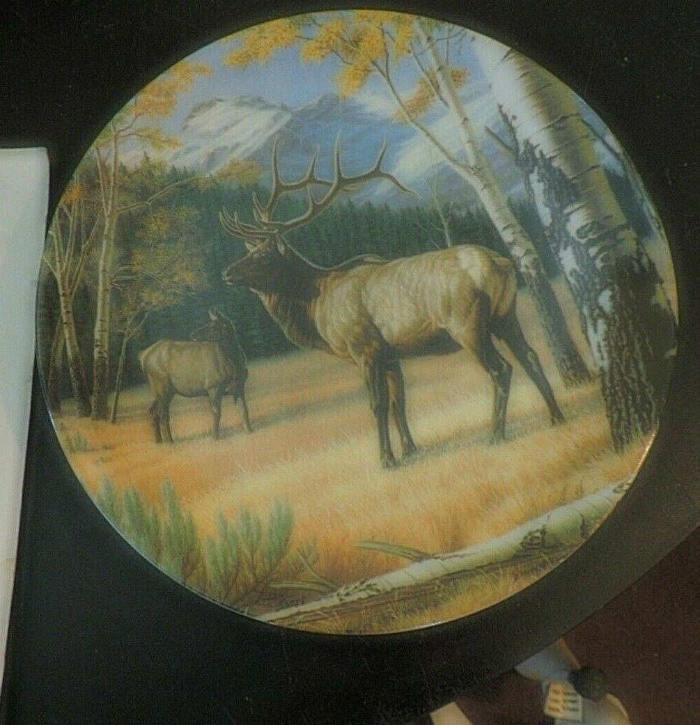 Lot of 5  Bradford Exchange Wild & Free Canada's Big Game Collection Plates - $69.25