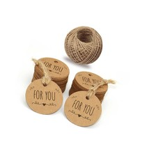 For You Tags,Mother'S Day Tags,100 Pcs Kraft Paper Gift Tags For Wedding... - $12.99