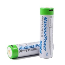 2x 18650 Rechargeable 3400mAh Battery w/ Micro USB Adapter and Cable - $18.79+