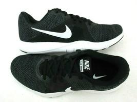 Nike Womens Flex Trainer 8 Run Training Shoes Black White Anthracite Siz... - $59.39