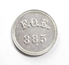 Fraternal Order of Eagles FOE 385 5c Aluminum Trade Token 21mm - $9.89