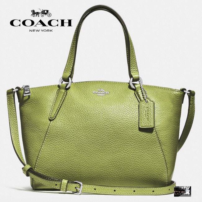 NWT Coach F28994 Mini Kelsey Satchel In Black pebble Leather Handbag MSRP $250