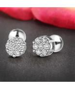 14K White Gold 1/4 CT Lab Grown Diamond 7Stone Cluster Earring IGI certi... - $110.99