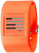 Nooka Womens Zub ZenH 38mm Burnt Orange Polyurethane Digital TFD LCD Watch NIB
