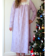 Charter Club Fleece Nightgown LARGE / XL Long Sleeve Gown Lavender/ Lila... - $37.95