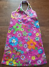 Childrens Place Girls Sleeveless Sun Dress Size 14 Pink Green Blue Orange Halter - $7.99