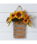 Sunflower HOME SWEET HOME Wall Sign  - $28.00