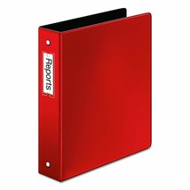 Cardinal Premier Easy Open Locking Round Ring Binder, 1.5-Inch, Red with... - $9.09