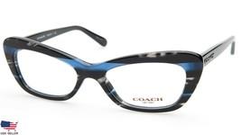 NEW COACH HC 6108 5477 Blue Glitter Varsity Stripe EYEGLASSES FRAME 50-1... - $113.83