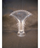Vintage Imperial Candlewick Clear Glass Fan Vase - $29.65