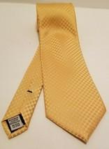 Designer Geoffrey Beene Classy Yellow Gold Polka Dot Spring Church Tie N... - $9.70