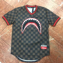 Men's Brown Shark Mouth Baseball Jersey By Hudson - $80.10
