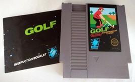 NES Nintendo GOLF Video Game w/ Manual, Sleeve (1985) - Works - $11.66