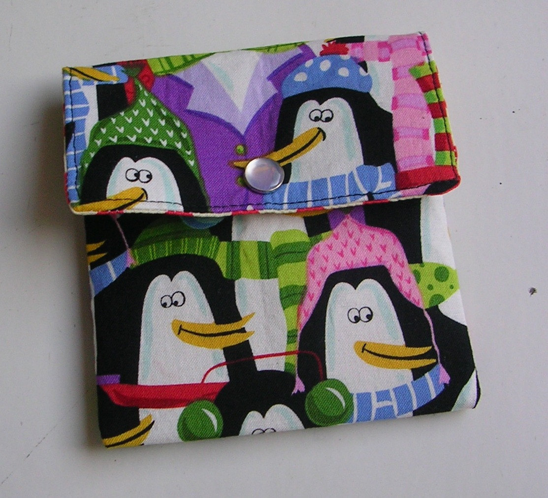 Primary image for Clearance Mini Wallet, Christmas Gift Card Holder Christmas Penguin, Mini Pouch,