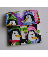 Clearance Mini Wallet, Christmas Gift Card Holder Christmas Penguin, Min... - $7.99