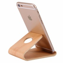 Universal Wooden Bamboo Mobile Phone Stand Holder Lightweight Slim, Phon... - $13.99