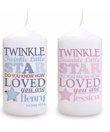 PERSONALISED BABY KEEPSAKE MEMORY Candle Christening Newborn Unique  #1 - $18.80