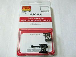 Micro-Trains # 00302190 (1175) Civil War Era Rigid Wood Beam Trucks  N-Scale image 4