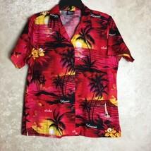 Royal Creations Size Medium Mens Hawaiian Shirt Red Black Yellow Hawaii - $19.59