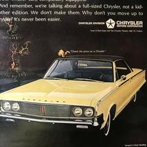 1965 Chrysler Newport 2-Door Hardtop Original Print Ad 2P1-4 - $14.45